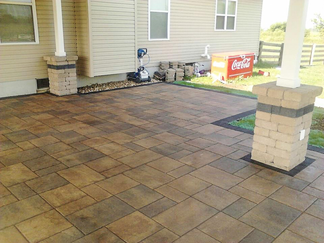 Landscape Design by Auman Landscape LLC. Installation in Fairfield County Ohio. paver Patio. Unilock Pavers. Paver Patio Installation in Lancaster, Ohio