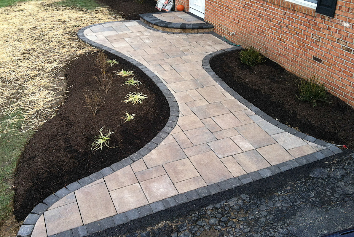 Landscape Design by Auman Landscape LLC. Installation in Fairfield County Ohio. Pickerington, Ohio Installation. Paver Patio. Paver Walkway. Unilock